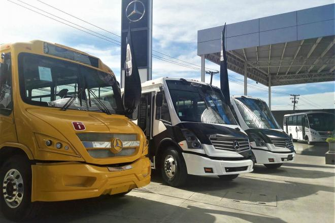Inauguran center bus mercedes benz tijuana la jornada for Mercedes benz tijuana